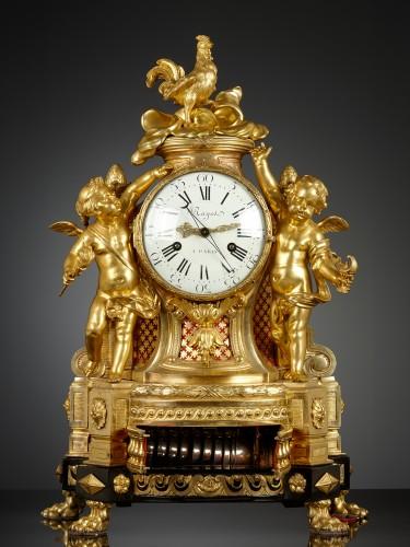 French Louis XVI Musical Mantel Clock - Horology Style Louis XVI