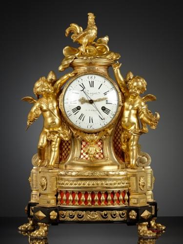 French Louis XVI Musical Mantel Clock -