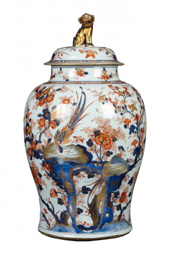 Chinese porcelain Kangxi Imari Vase and Cover