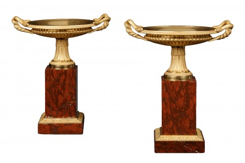 Pair of French Restauration Tazza