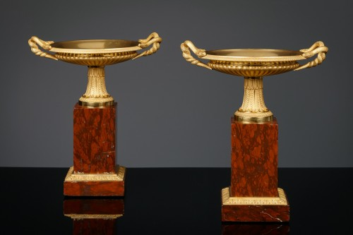 Pair of French Restauration Tazza - Decorative Objects Style Restauration - Charles X