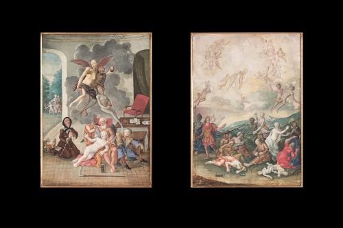 Paintings & Drawings  - Two German Vanitas Gouache Paintings