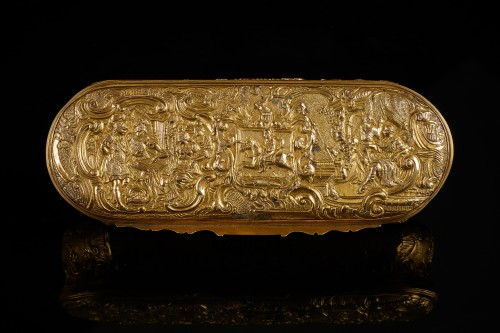 French Louis XV Gilt Snuffbox - Objects of Vertu Style Louis XV