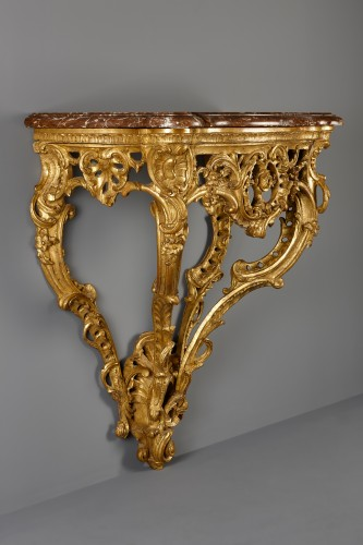 French Louis XV Console d'Applique - Furniture Style Louis XV