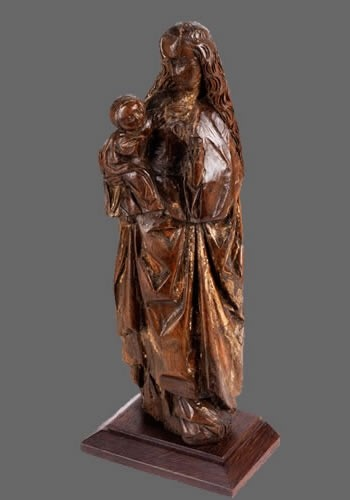 Sculpture  - Virgin and Child, Possibly Mechelen School (Belgium), ca. 1500