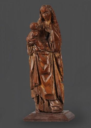 <= 16th century - Virgin and Child, Possibly Mechelen School (Belgium), ca. 1500