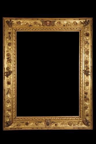 A magnificient  italian baroque giltwood frame - Mirrors, Trumeau Style Renaissance