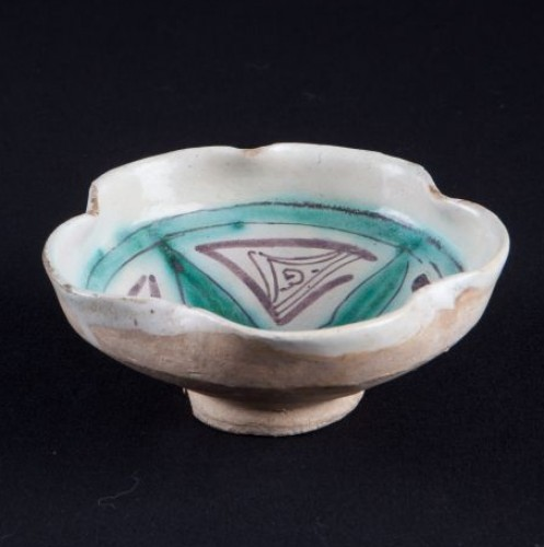 Spice or salt bowl. Spain, Paterne-Valence, 13th century. - 14th c. - Porcelain & Faience Style Middle age