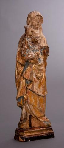 "Saint Anne ""Triplex"". Mechelen School (Belgium), ca. 1500 - Sculpture Style Middle age"