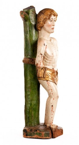 The Martyrdom of Saint Sebastian - Sculpture Style Middle age