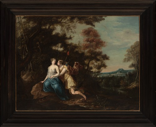 Diana and Callisto - French School of the late 17th century - Paintings & Drawings Style