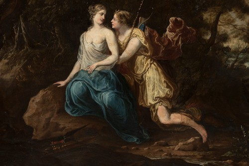 Paintings & Drawings  - Diana and Callisto - French School of the late 17th century