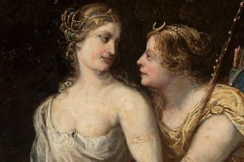 Diana and Callisto - French School of the late 17th century -