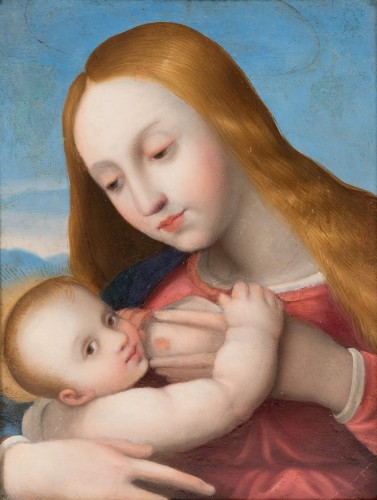 Paintings & Drawings  - Nursing Madonna