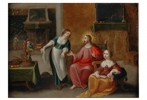 Christ in the house of Martha an Mary -  - Frans Francken II -