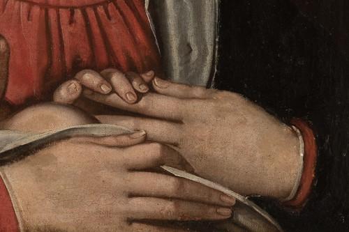 <= 16th century - Madonna and Child., Circle of Scipione Pulzone (Gaeta, 1544 - Rome, 1598).