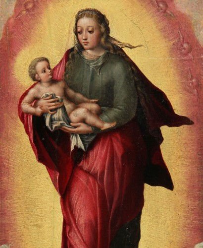 Madonna and Child - Attributed to MARCELLUS COFFERMANS (1520-1575) - Paintings & Drawings Style Renaissance