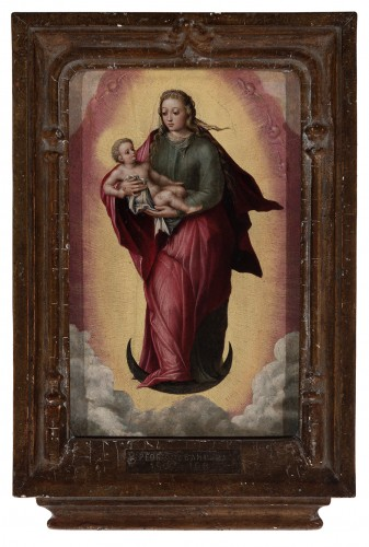 <= 16th century - Madonna and Child - Attributed to MARCELLUS COFFERMANS (1520-1575)