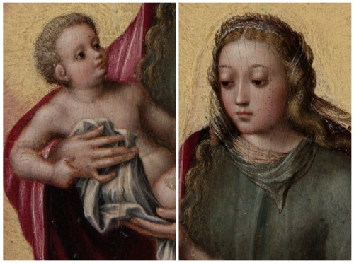 Madonna and Child - Attributed to MARCELLUS COFFERMANS (1520-1575) - Renaissance