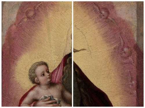 Renaissance - Madonna and Child - Attributed to MARCELLUS COFFERMANS (1520-1575)