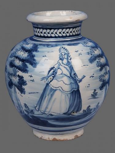 A pair of Talavera de la Reina vases, around 1750 - Porcelain & Faience Style