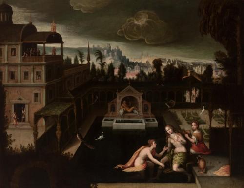 Bathsheba at Her Bath -  Madrid School around 1620