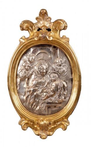 Madonna and Child Roman school of the 18th century. Alessandro Algardi Scho