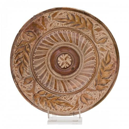 A lusterware plate. Manises Circa 1550