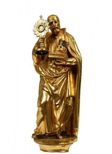 A17th century  bronze sculpture. Saint Francis of Borgia.