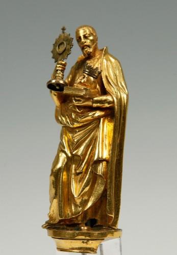A17th century  bronze sculpture. Saint Francis of Borgia. - Religious Antiques Style