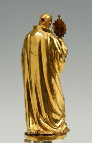 Religious Antiques  - A17th century  bronze sculpture. Saint Francis of Borgia.