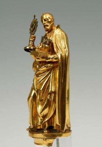 A17th century  bronze sculpture. Saint Francis of Borgia. -