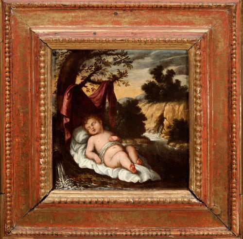 Sleeping Infant Jesus - Attributed to Juan Niño de Guevara (Malaga, around 1635 - 1698)