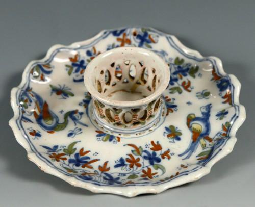 Mancerina. ROYAL FACTORY OF ALCORA,1740 – 1760.  - Porcelain & Faience Style