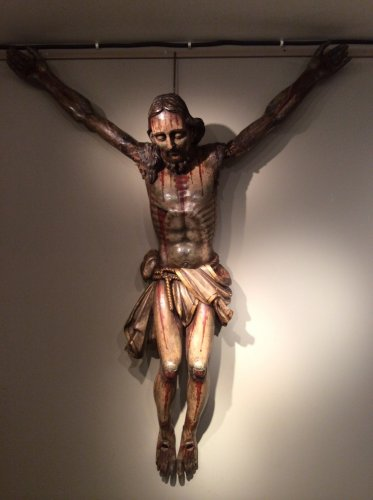 16th century articulated Christ, with it's original polychrome colors