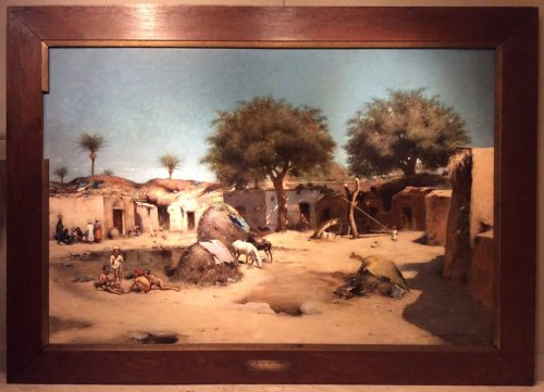 Village en Egypte, Maxime Dastugue 1890