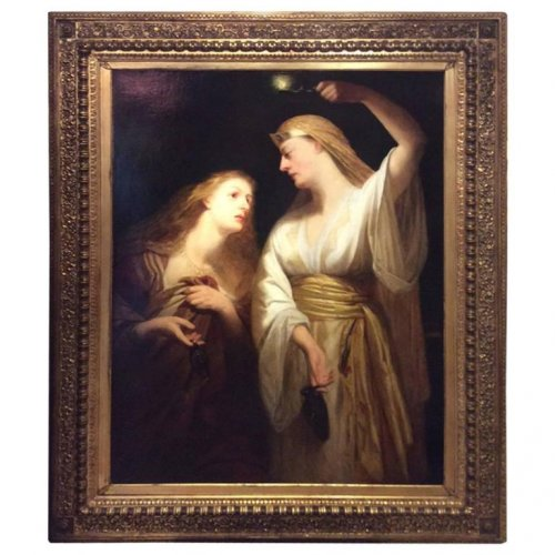 John J. NAPIER - English School late 19th century - Women draped in Antique