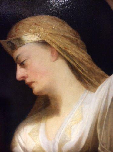 John J. NAPIER - English School late 19th century - Women draped in Antique - Paintings & Drawings Style Napoléon III