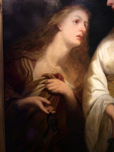 Antiquités - John J. NAPIER - English School late 19th century - Women draped in Antique