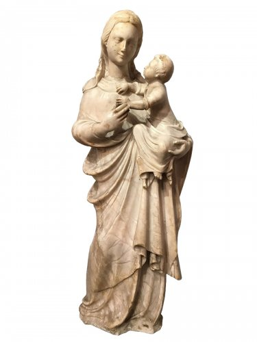 irgin and Child in Marble, Northern Italy 16th Century