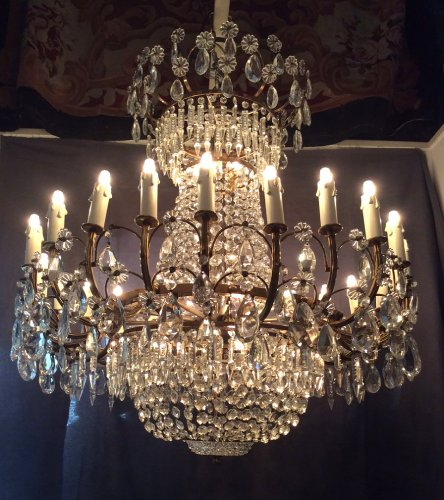 Crystal chandelier, France circa 1940