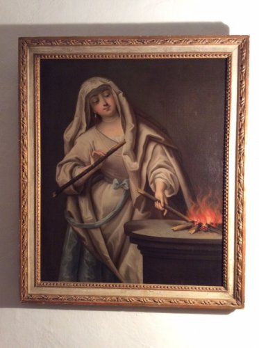 Paintings & Drawings  - Vestal keeping the sacred fire - Follower of Jean Raoux Circa 1720