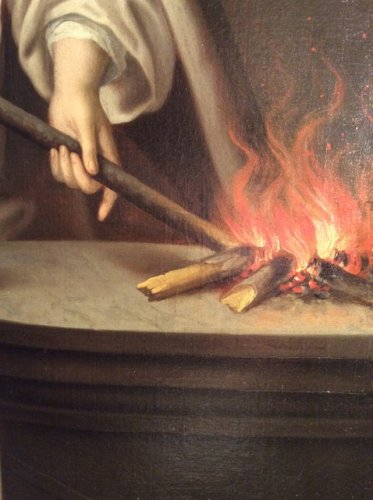 Vestal keeping the sacred fire - Follower of Jean Raoux Circa 1720 -