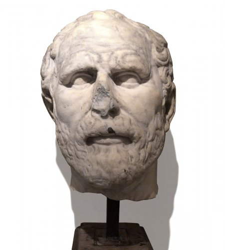 Marble Head, Doubtfully Demosthenes ,Italian Work ,16th or 17th Century