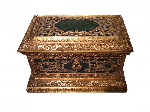 Small Napoleon III Jewelry box, France 19th century