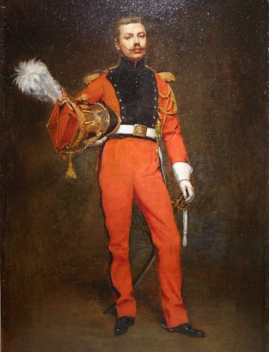 Portrait of an Officer -  Jules  BADIN (1843-1919)