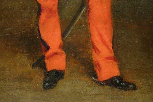 Portrait of an Officer -  Jules  BADIN (1843-1919) -