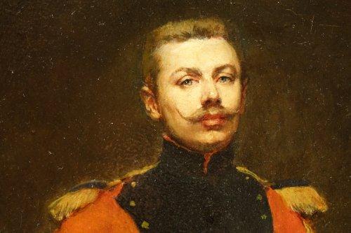 19th century - Portrait of an Officer -  Jules  BADIN (1843-1919)