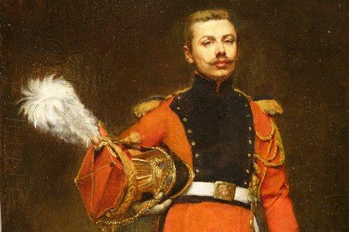Portrait of an Officer -  Jules  BADIN (1843-1919) - Art nouveau
