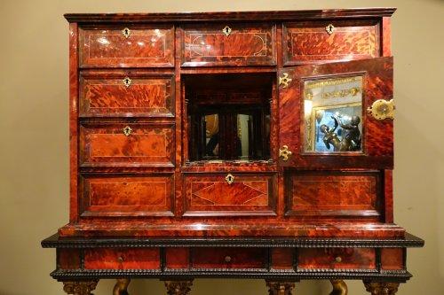 Furniture  - Tortoiseshell Cabinet , Antwerp Work, 17th Century